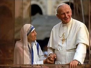 MADRE MOTHER TERESA CALCUTA POPE JOHN PAUL II PHOTO 8x10 ...