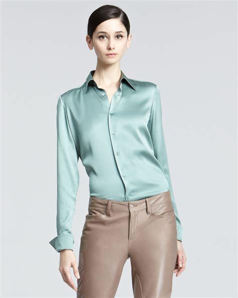 silk charmeuse blouse ralph black label stretch silk charmeuse