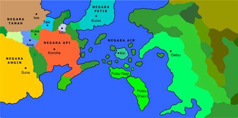 daftar daerah  seri naruto wikipedia bahasa
