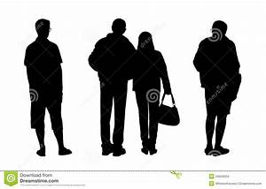 17 Human Standing Silhouette Vector Images - Human ...