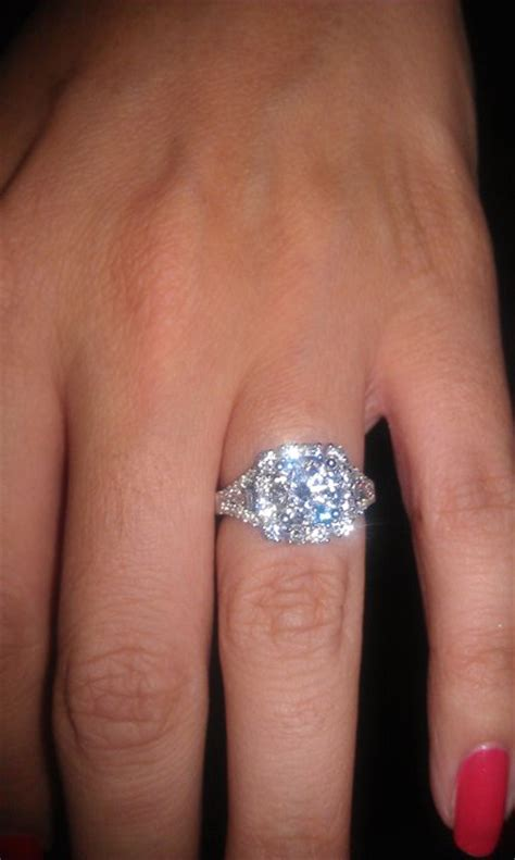 My Gorgeous Engagement Ring! So Happy  Weddingbee Photo. Round Diamond Band. Engraving Bracelet. Belly Button Rings. Platinum Earrings. Pinterest Beads. Diamond Engagement. Diamond Engagement Ring Set. Solitare Wedding Rings