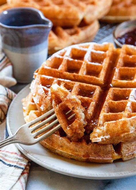 yeasted belgian waffles recipe simplyrecipes com