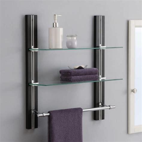 bathroom shelving  towel bar bathroom storage wall