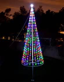 flagpole christmas tree kit multicolor uncommon usa christmas trees