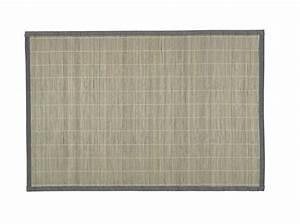 shopping tapis en bambou elle decoration With tapis jaune avec plaid canapé gifi