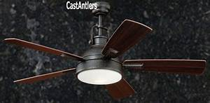 Standard size fans quot rustic loft bronze industrial