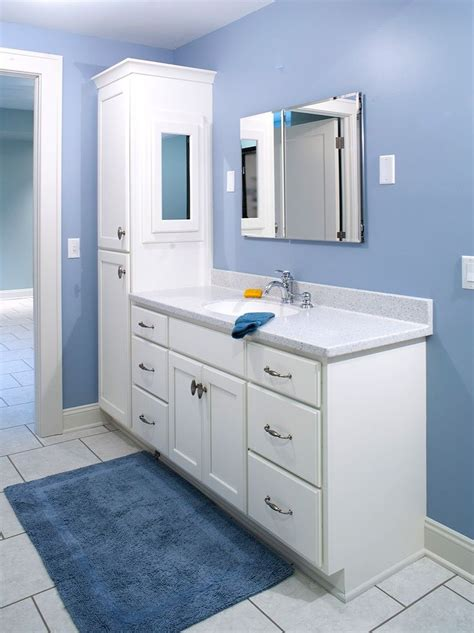 double vanity with linen cabinet double bathroom vanity with attached tall cabinet vanity
