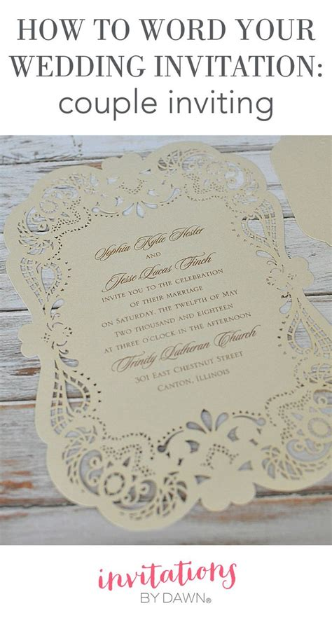 word  wedding invitations couple inviting