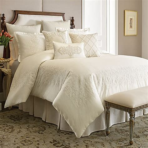 buy croscill couture 174 hepburn comforter set in ivory from bed bath beyond - Ivory Comforter Set King