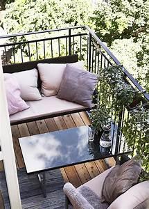 Salon Pour Balcon : am nagement petit balcon toutes nos id es marie claire maison ~ Teatrodelosmanantiales.com Idées de Décoration