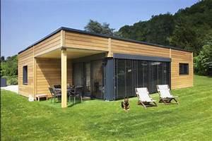 Maison Préfabriquée En Bois : maison bois de plain pied belle surface et grand terrain ~ Premium-room.com Idées de Décoration
