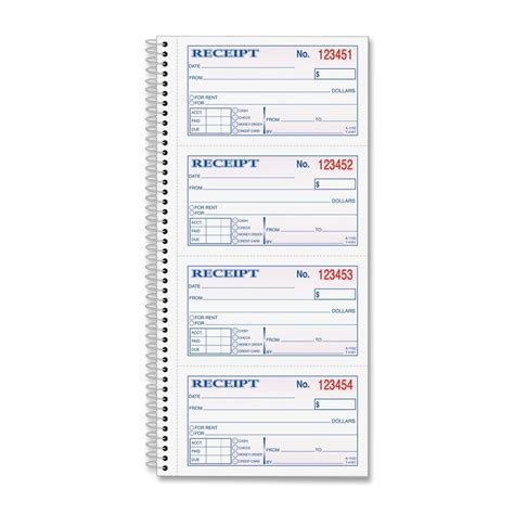8 best images of free printable receipt book blank rent