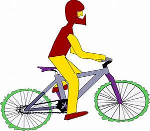 Clip Art Winding Road with Bikes Clipart