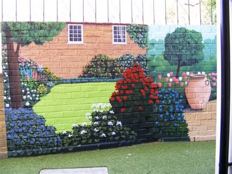 25+ Unique Garden Mural Ideas On Pinterest