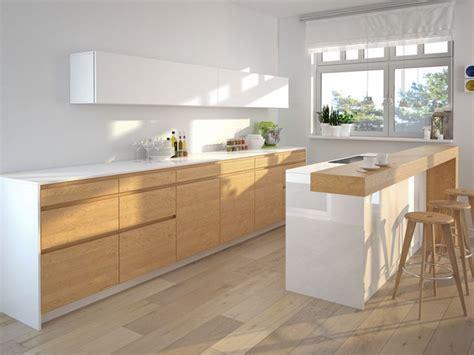 plancher bois cuisine cuisine en bois massif moderne sedgu com