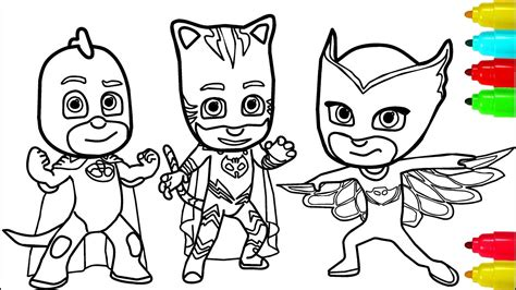 pj masks minions coloring pages colouring pages  kids