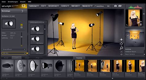 simulate lighting   virtual photo studio  seta