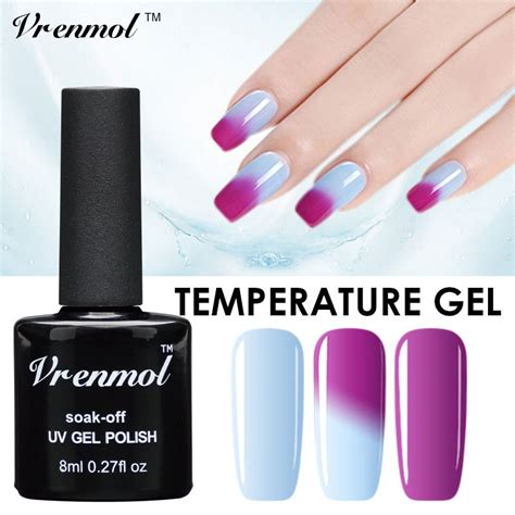 temperature color changing gel nail vrenmol 8ml temperature change chameleon color changing uv