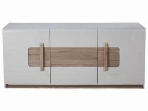 Bahut Bois Blanc : buffet 3 portes levi coloris bois blanc vente de buffet bahut vaisselier conforama ~ Teatrodelosmanantiales.com Idées de Décoration