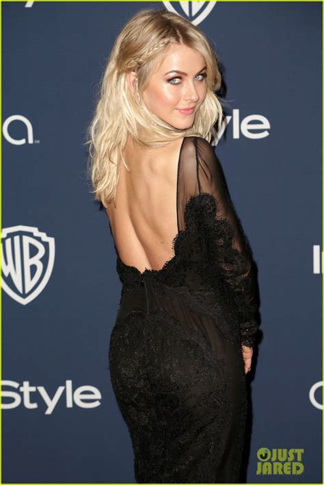julianne hough instyle golden globe party  black lace