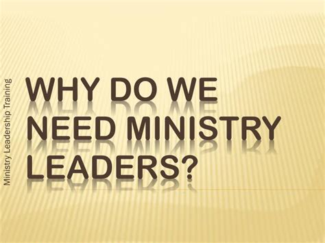 ministry leaders powerpoint