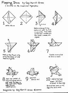Origami Dove Folding Instructions With 10 Step Diagram Gif