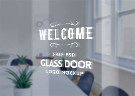 Pngtree offers mockup png and vector images, as well as transparant background mockup clipart images and psd files. Glass Door Logo Mockup | Mockup World