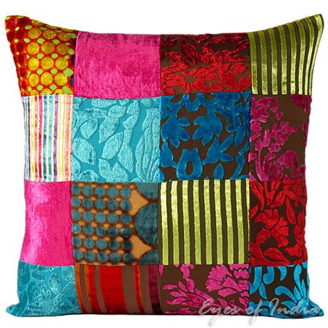 Colorful Sofa Pillows by Colorful Velvet Sofa Pillow Cushion Throw Cover