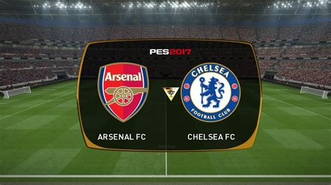Arsenal vs Chelsea FA Cup Final - PES 2017 Gameplay - YouTube