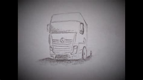 draw  truck mercedes benz youtube