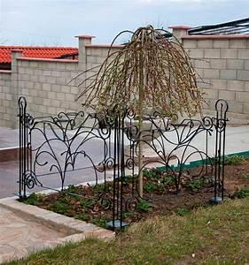 Designer Gartenzaun QuotDekorquot Zaunelement 90 Cm Zaun Metall