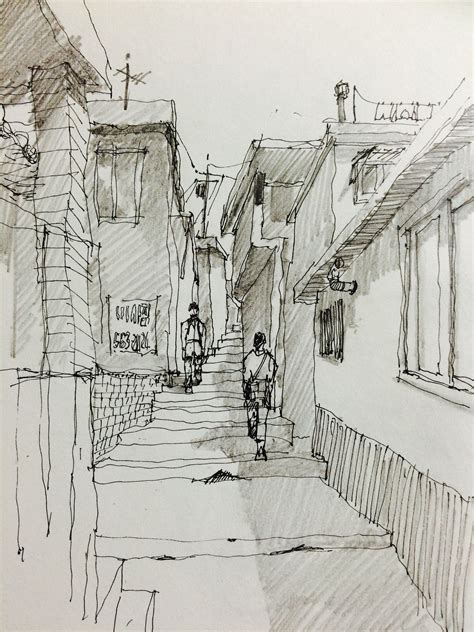 pencil shadows urban sketching sketches artwork painting