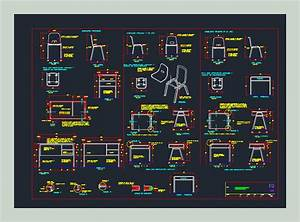 School Furniture In Autocad