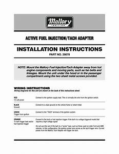 Mallory Ignition Mallory Active Fuel Injection  Tach