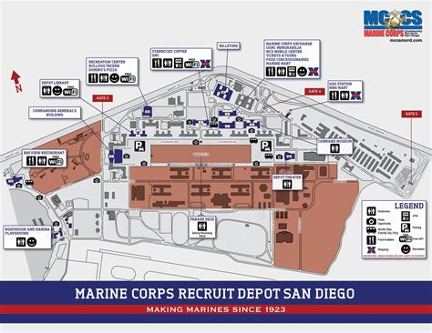 visitor map marine corps community services mcrd san diego