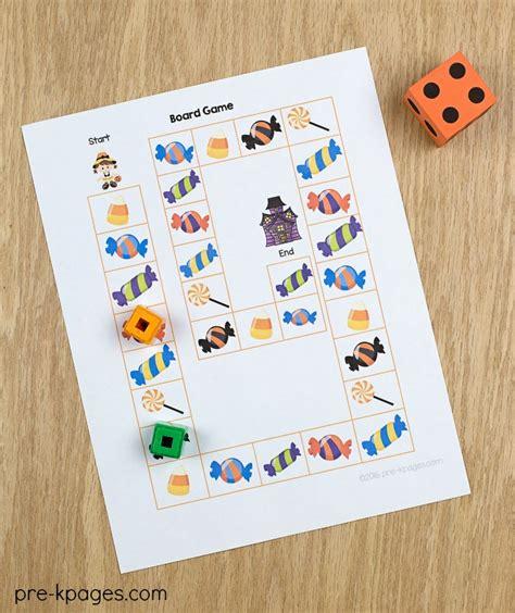 theme pre k preschool kindergarten 691 | Printable Halloween Theme Board Game