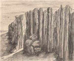 Cliff Sketch by Larry Fina