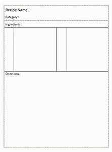 full page recipe template for word it resume cover With template for recipes in word