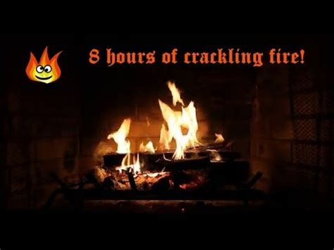 8 hours of fireplace with crackling sounds