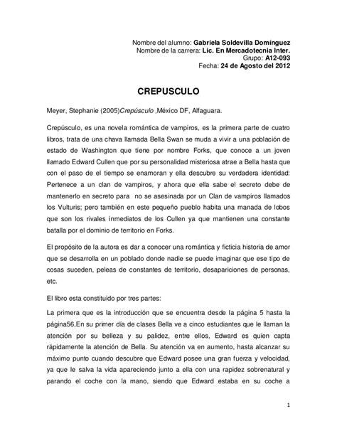 Twilight Resume 2 by Resumen De Novela Crepusculo