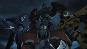 Optimus Prime, Arcee, Bumblebee, and Ratchet ...