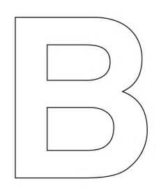 Letter B Cut Out