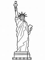 Liberty Statue Coloring Pages Drawing Printable Memorial Clip Outline Cartoon Template Clipart Da Sheet Theme Sketches Liberdade Google Cliparts Library sketch template