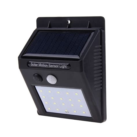 20 led solar power pir motion sensor led wall light outdoor waterproof energy saving l street