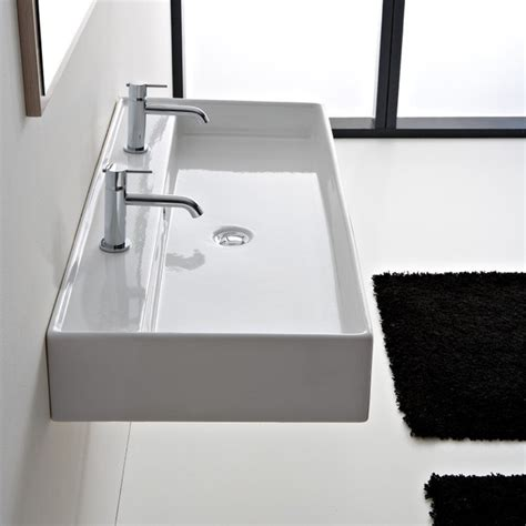 white rectangular vessel sink rectangular white ceramic wall mounted or vessel sink