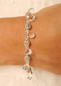 bracelet mariage eclatant avec strass et cristal gouttes With bracelet de mariage