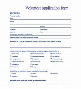 volunteer application template 15 free word pdf With volunteer questionnaire template