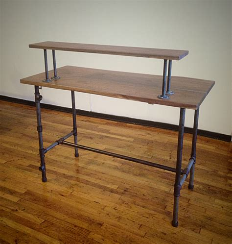 steel pipe desk legs steel pipe standing desk a different approach steven slack