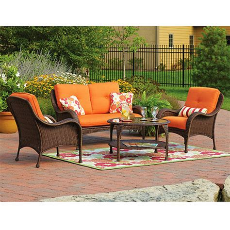 replacement cushions  patio sets sold  walmart garden winds