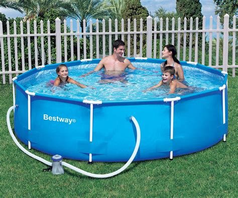 bestway ft   steel pro frame garden pool